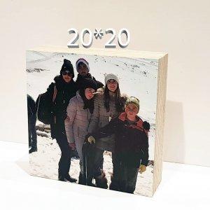 הדפסה על בלוק עץ הולנדי 20X20ס