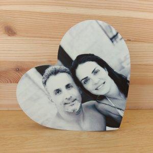 הדפסה ישירה על עץ בצורת לב 20X20ס