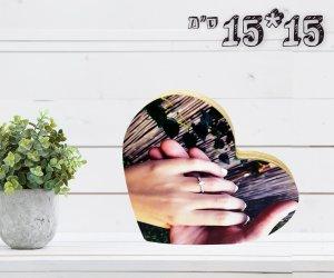 מספר מוצר 14 עץ בצורת לב 15X15ס